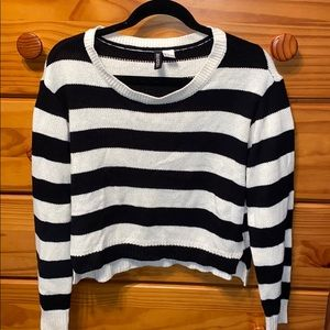 H&M black and white striped sweater!